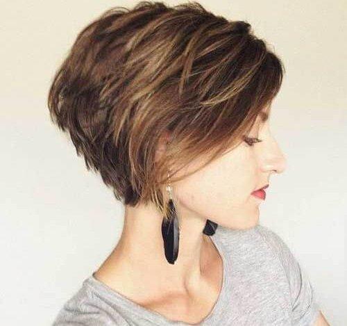 صورة اجمل تسريحات الشعر القصير , احلى صور لتسرحات الشعر القصير