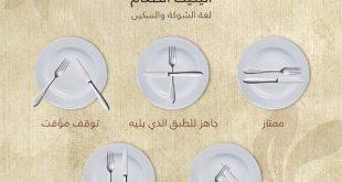 صورة اتيكيت الشوكة والسكين , بالفيديو اتيكيت الشوكة والسكين