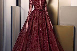 صورة اخر موديلات الفساتين , فساتين سوارية انيقة جدا 2019