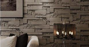 ورق جدران حجر , ديكورات بالصور لورق جدار بشكل الاحجار