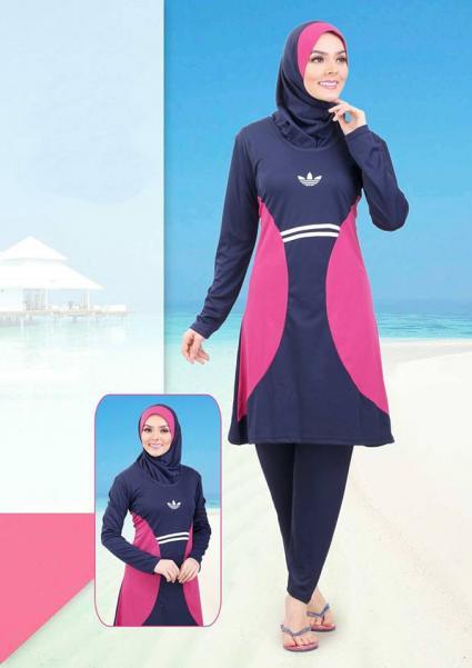 صورة مايوه اسلامي , صور لمايوهات محجبات للشواطئ