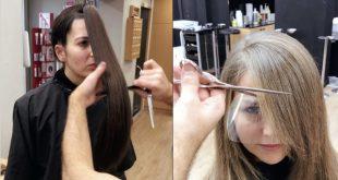 صور كيفية قص الشعر , كيف تقصي شعرك بطريقه رائعه