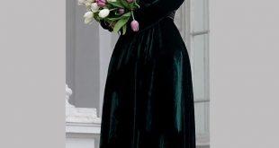 صورة فستان مخمل , اجمل صور للفساتين