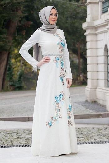 صورة صور فساتين محجبات , اجمل الفساتين المناسبه للحجاب