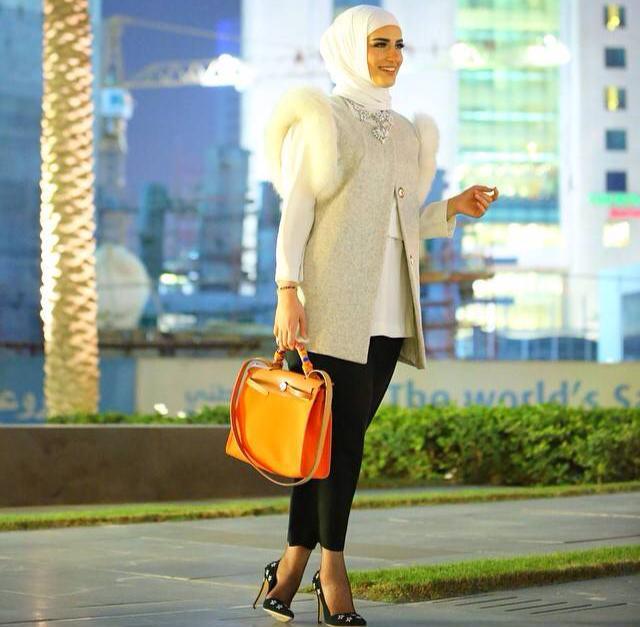 بالصور ملابس خروج للبنات المحجبات , افضل ملابس خروج للنساء المحجبات 2500 10