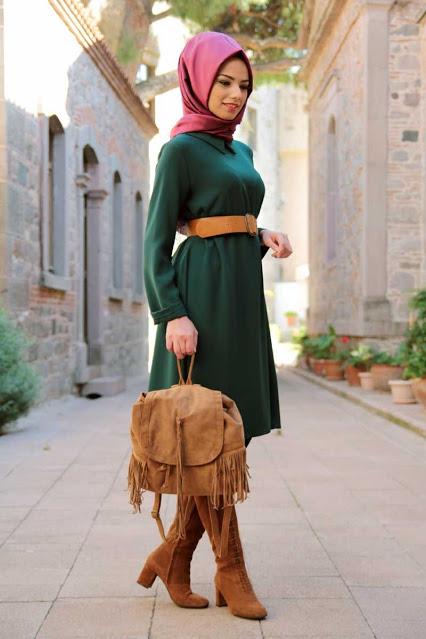 بالصور ملابس خروج للبنات المحجبات , افضل ملابس خروج للنساء المحجبات 2500 11