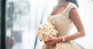 صورة صور عن العروس , اجمل فستان يوم الزفاف