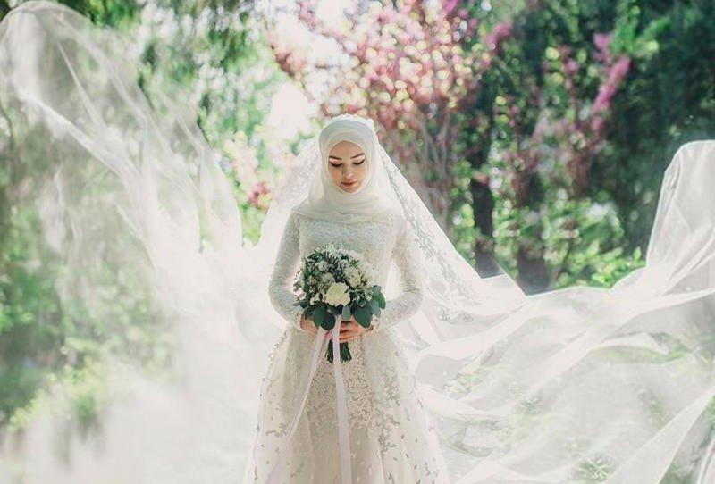 صور فساتين زفاف للمحجبات , اجمل فساتين محجبات للزفاف