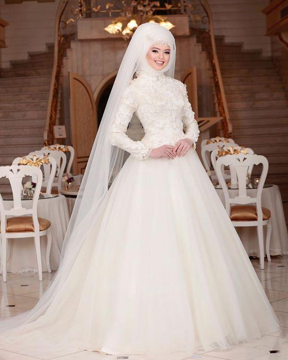 صورة صور فساتين زفاف , احلى فساتين زفاف بالاكمام الطويلة للمحجبات