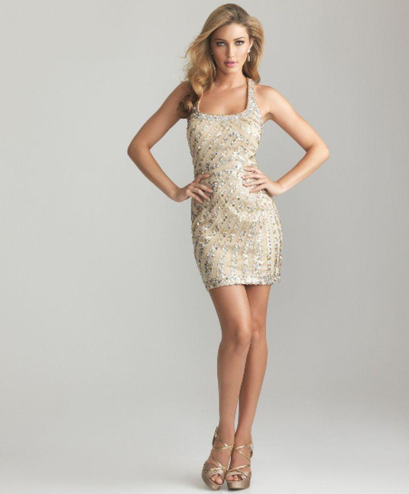 صورة صور فساتين سهرة قصيرة , موضة الفساتين القصيرة