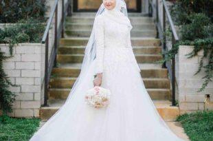 صور فساتين اعراس للمحجبات , محجبات فاشون للعرائس