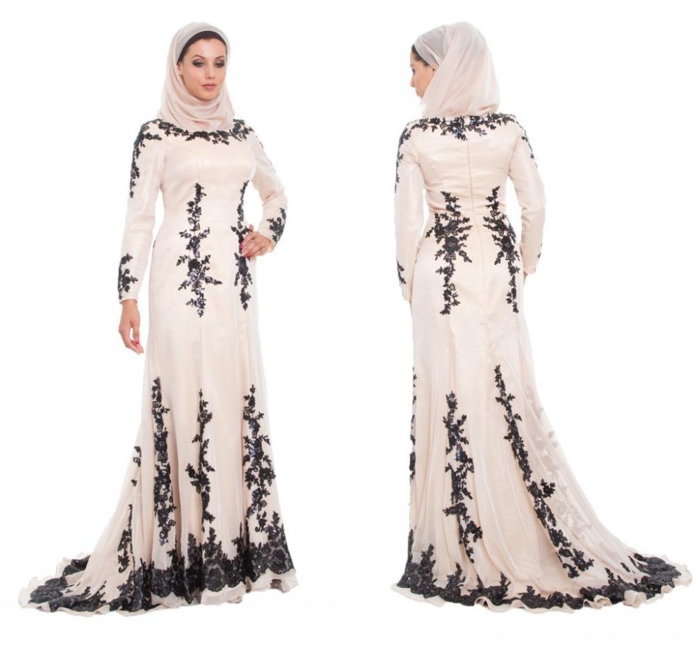 بالصور فساتين سواريه للمحجبات 2019 , احدث تصميمات لفساتين المحجبات 5966 8