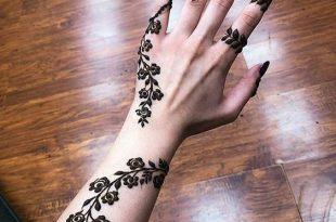 صور نقش حناء خفيف , رسومات اصحاب العروسة على اليد