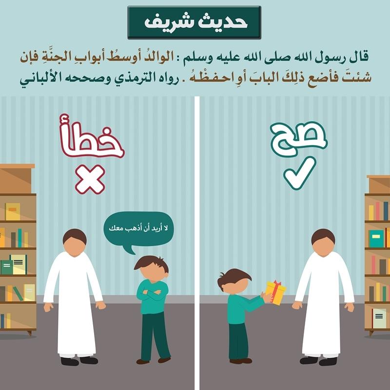 موضوع عن بر الوالدين قصير للاطفال