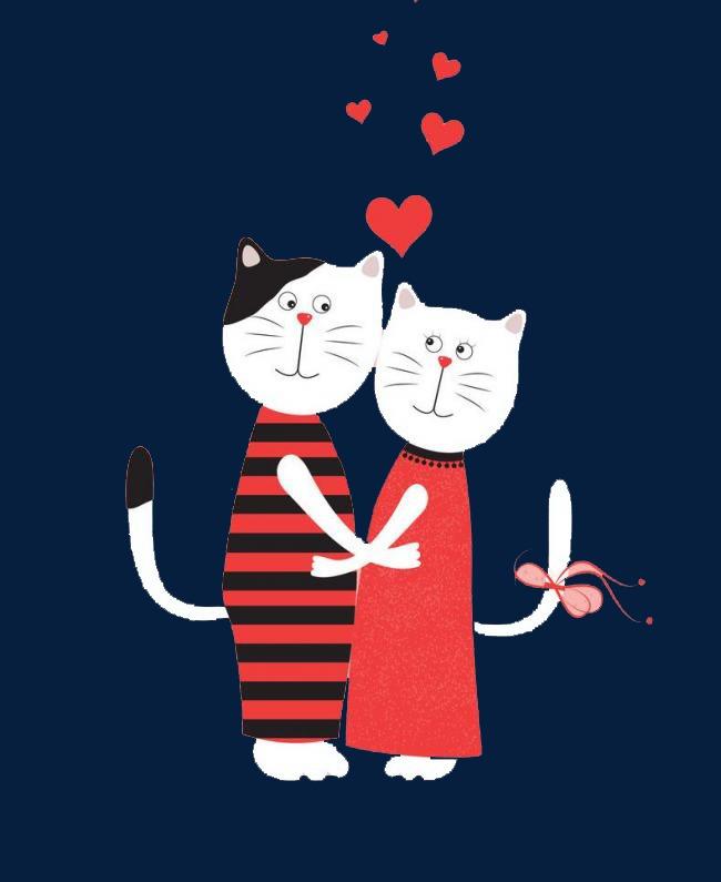 Лет дня, коты любовь картинки нарисованные