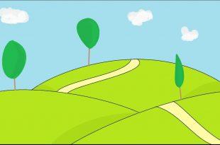 صورة رسم منظر طبيعي سهل للاطفال , علمي اطفالك الرسم الصحيح