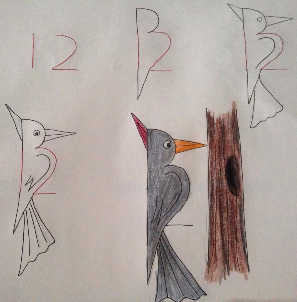 بالصور رسومات سهلة وجميلة , رسومات سهله لطفلك 1357 8