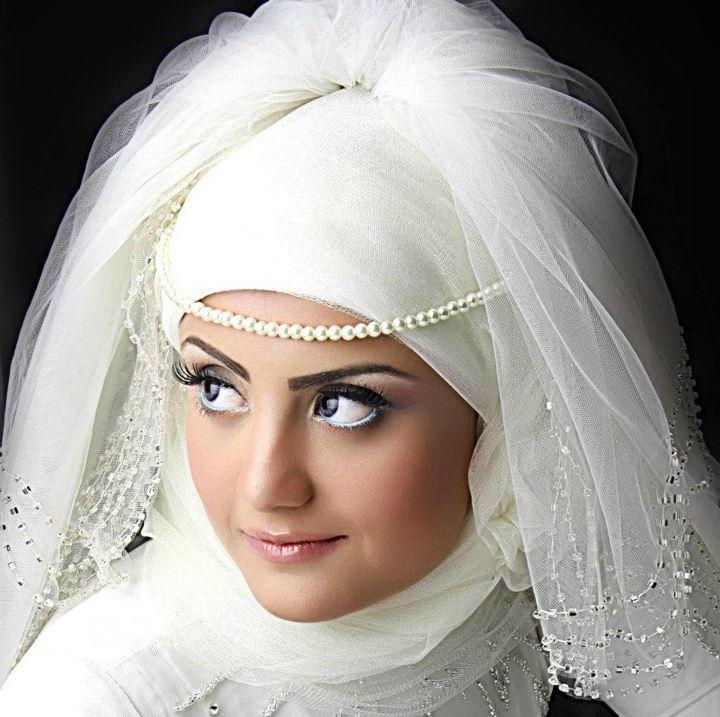 بالصور صور عرايس محجبات , روعة و جمال العرائس المحجبات