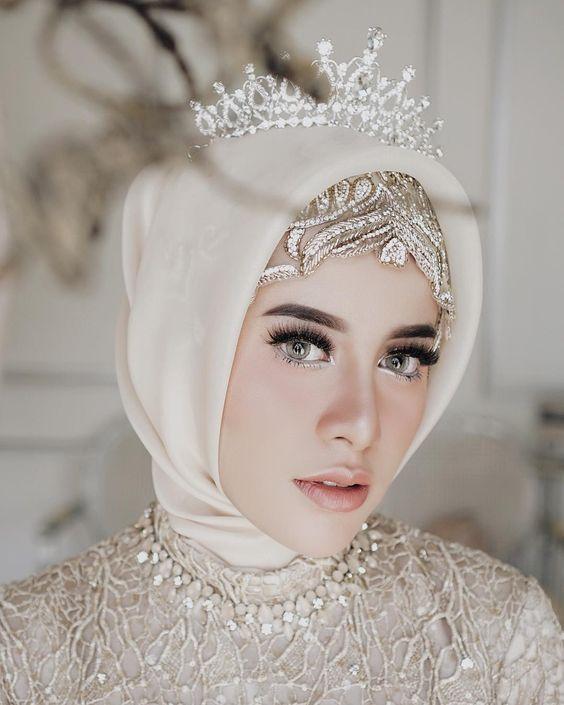 صور صور عرايس محجبات , روعة و جمال العرائس المحجبات