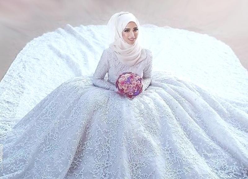 بالصور صور عرايس محجبات , روعة و جمال العرائس المحجبات 1383 2