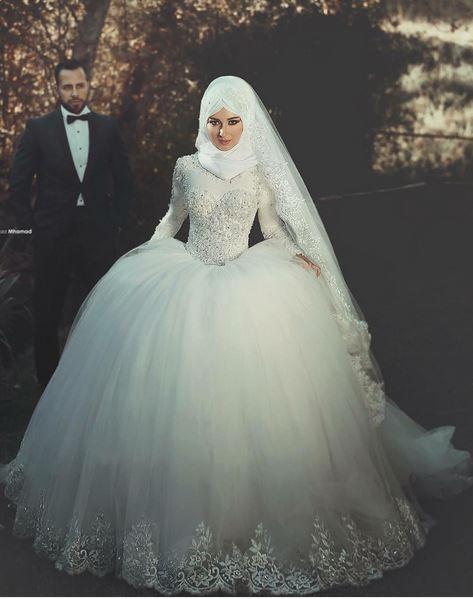 بالصور صور عرايس محجبات , روعة و جمال العرائس المحجبات 1383 4