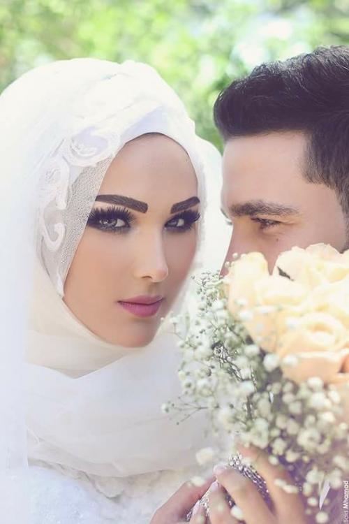 بالصور صور عرايس محجبات , روعة و جمال العرائس المحجبات 1383 6