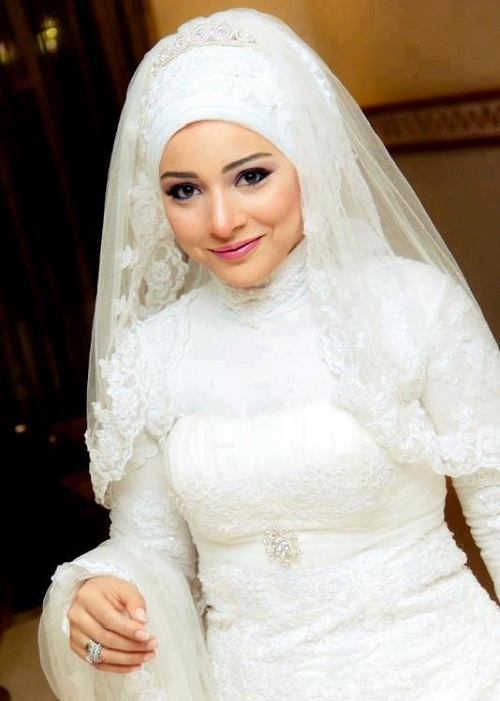 بالصور صور عرايس محجبات , روعة و جمال العرائس المحجبات 1383 9