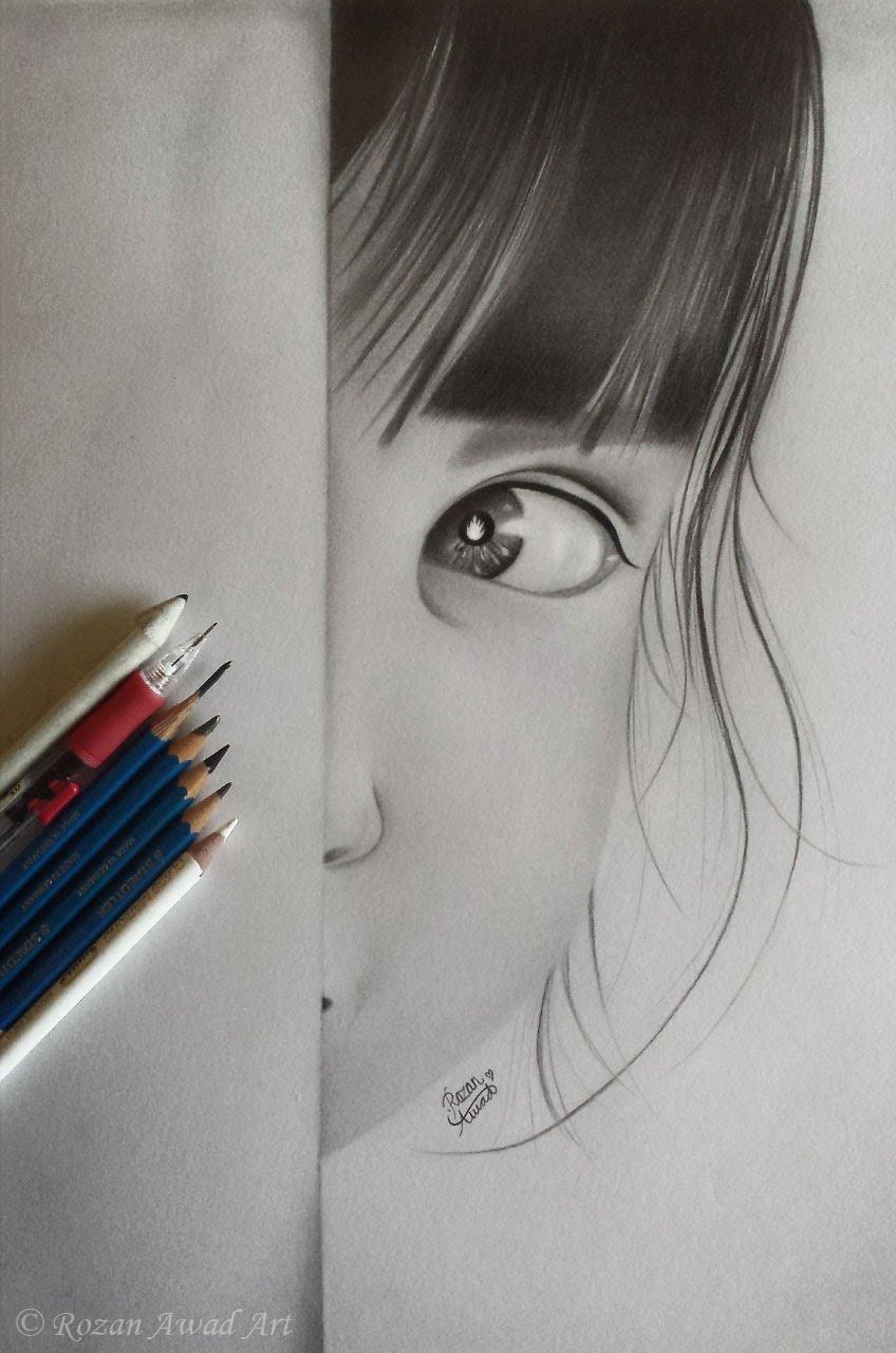 رسومات جميلة وسهلة الرسم بالرصاص للمبتدئين وداع وفراق