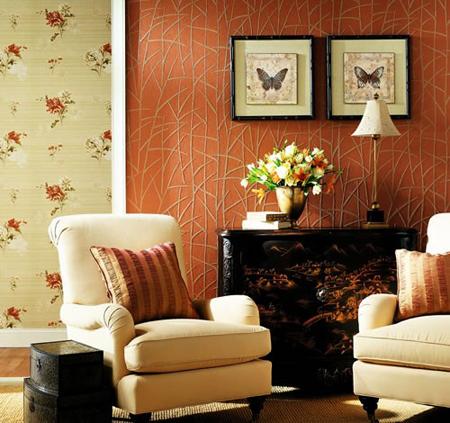 صورة ورق جدران للمجالس , تصميمات ورق الحائط للصالون