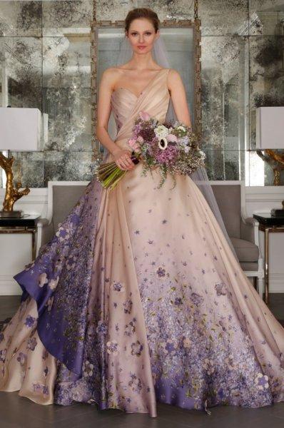 بالصور فساتين زفاف ملونة , فساتين زفاف غير تقليدية ومتعددة الالوان 11306 2