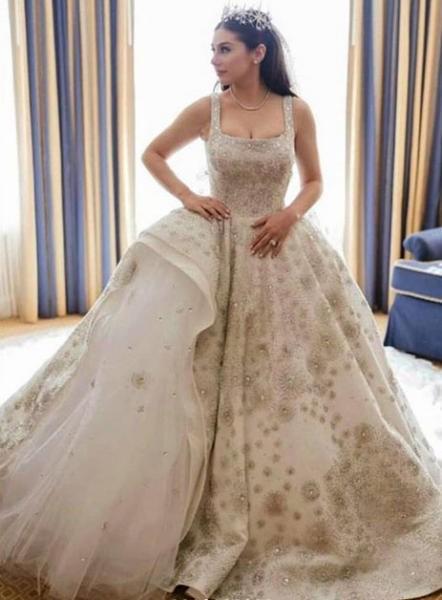 بالصور فساتين زفاف ملونة , فساتين زفاف غير تقليدية ومتعددة الالوان 11306 9