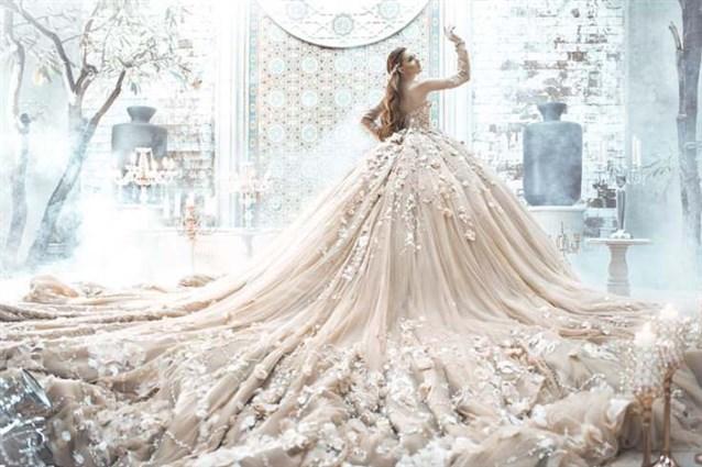 صور فستان عروس فخم , اجمل فستان لليلة العمر
