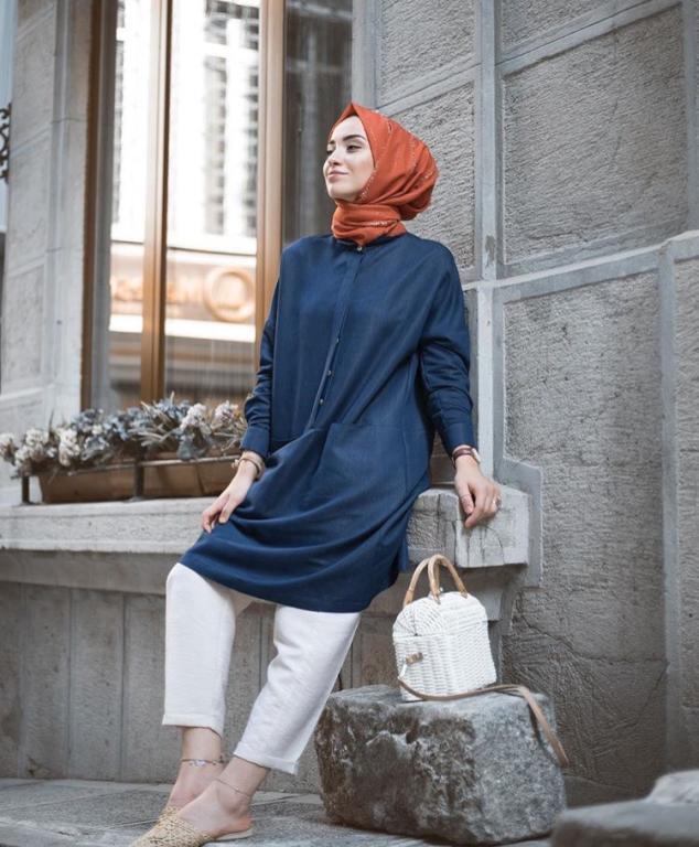 صور ملابس بنات محجبات , اطلاله جذابه ومحتشمه لصيف 2019