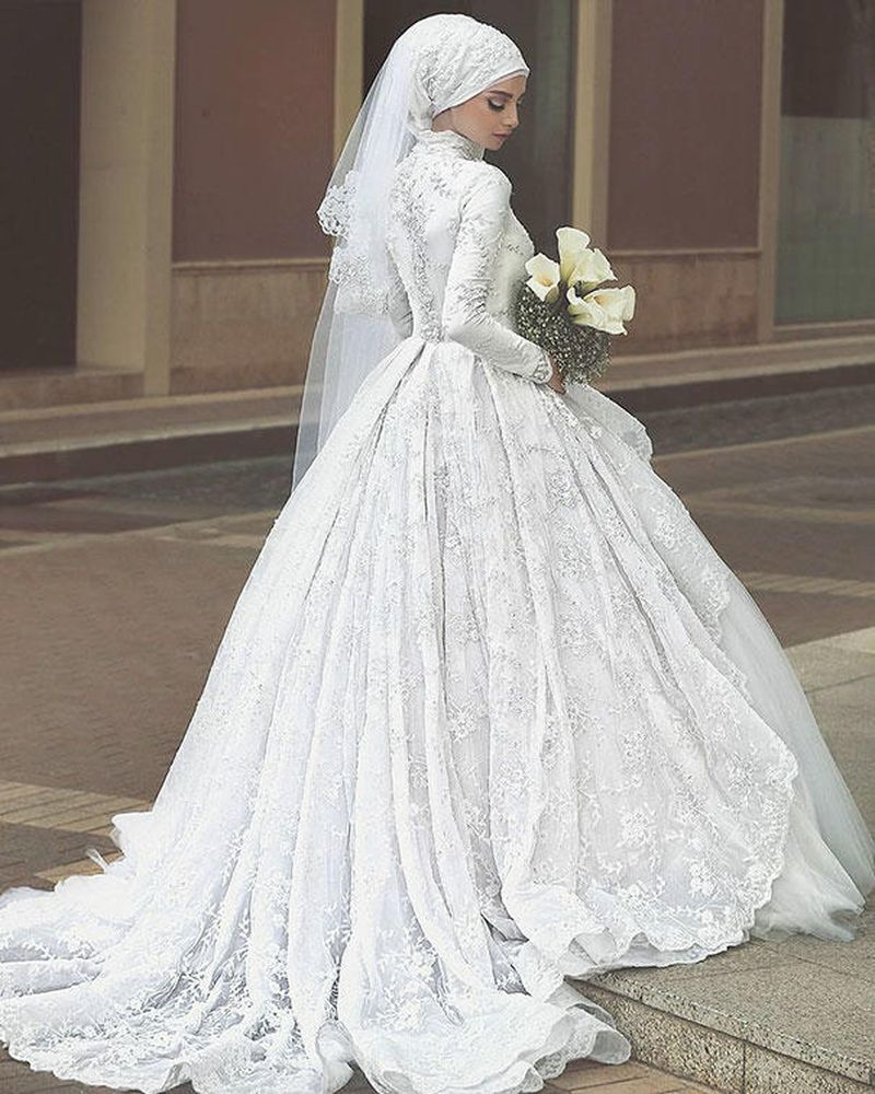 صور فساتين زفاف محجبات , احدث تصاميم فساتين زفاف لكل محجبه