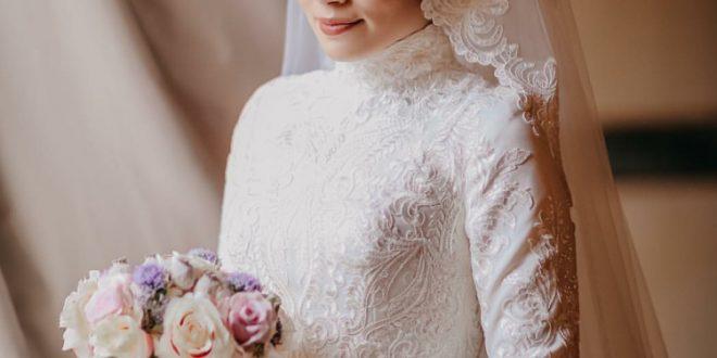 صورة فساتين زفاف محجبات , احدث تصاميم فساتين زفاف لكل محجبه