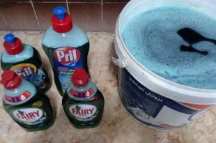 صور طريقة عمل صابون سائل , عمل صابون المواعين الموفر