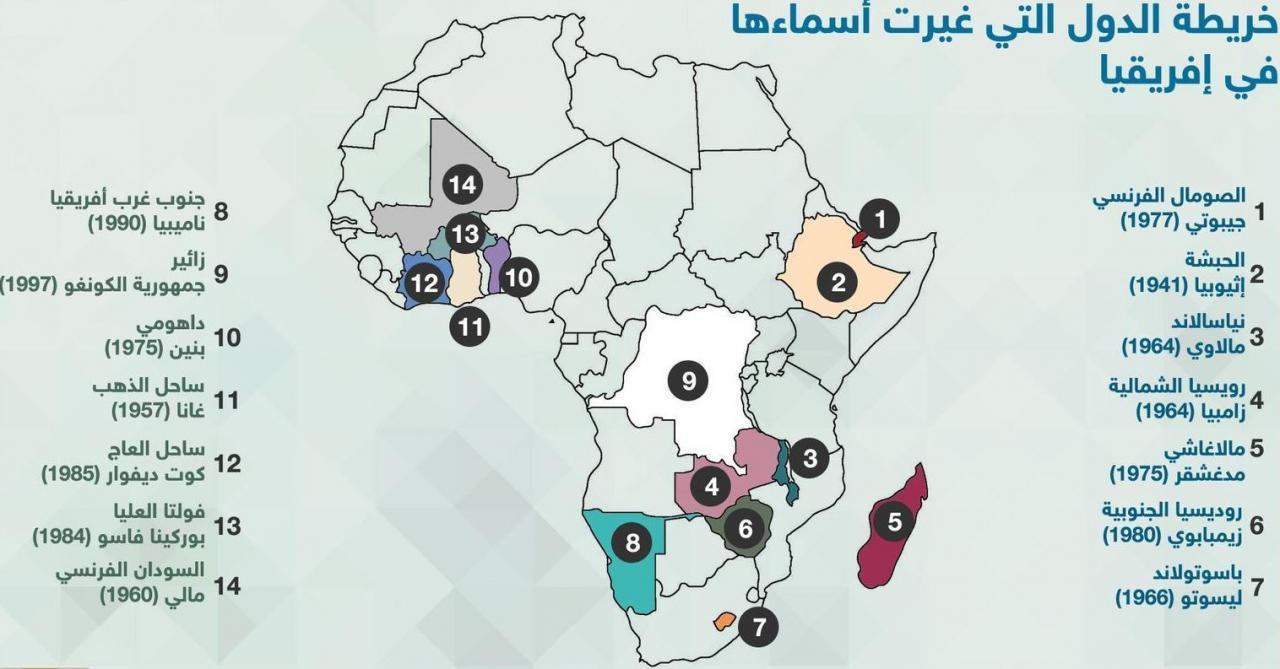 صور اسماء الدول الافريقية , تعرف على قارة افريقيا ودولها