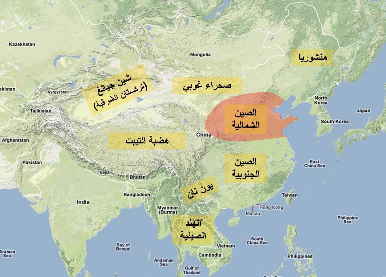 صورة خريطة الصين بالعربي , اتفرج علي خريطة الصين بالعربي