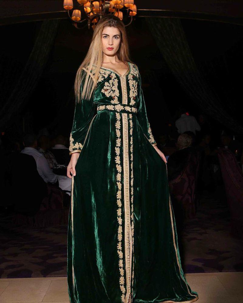 صورة قفطان مغربي بالصور , بنات المغرب احلى بالقفطان المغربي