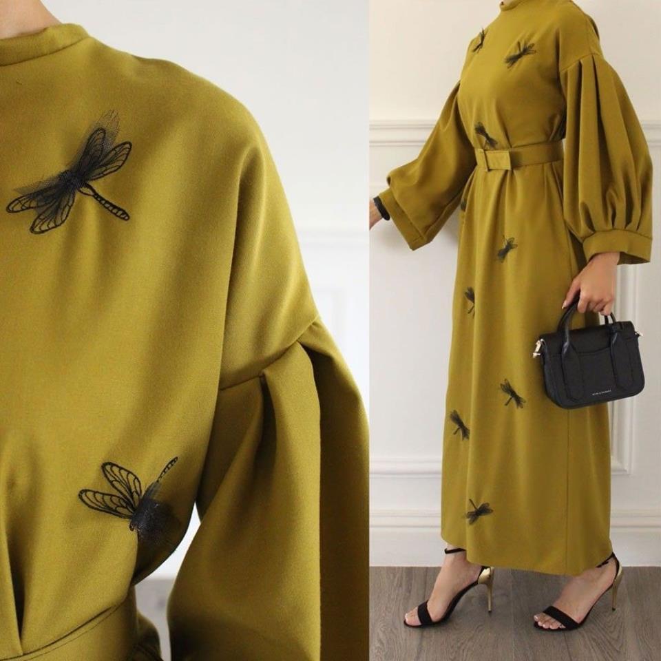 صورة تعرفي علي اخر صيحات الفساتين , موضة فساتين 2019