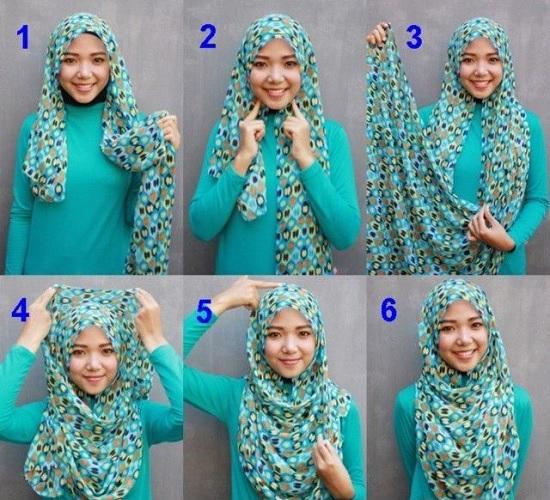 صورة لفي الحجاب بطريقة مختلفة , طرق لف الحجاب